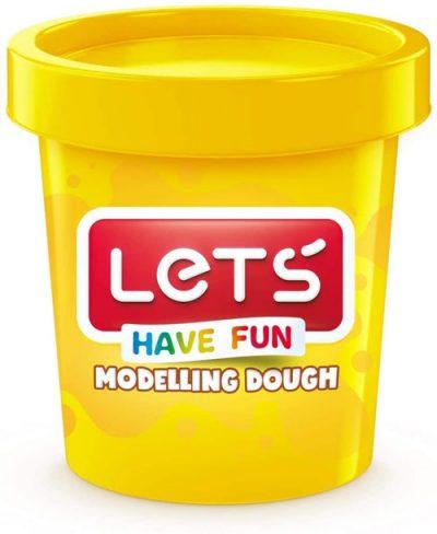 Lets L8340-1 – Tek Renk Oyun Hamuru, Sarı, 150 gr.