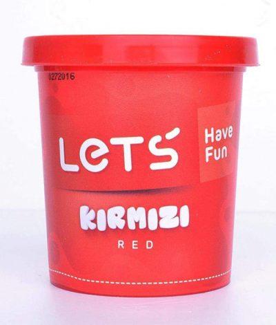 Lets L8340-2 – Tek Renk Oyun Hamuru, Kırmızı, 150 gr.