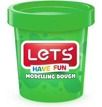 Lets L8340-4 – Tek Renk Oyun Hamuru, Yeşil, 150 gr.